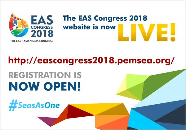 Visit eascongress2018.pemsea.org to register for the sixth EAS Congress