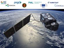 ESA satellite above the ocean
