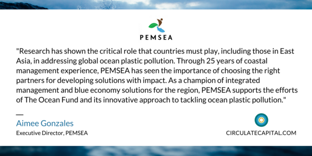 PEMSEA Executive Director Aimee Gonzales feels plastic pollution is a critical issue